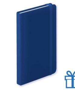Notitieboek A6 PU leder 100 vel blauw bedrukken