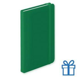 Notitieboek A6 PU leder 100 vel groen bedrukken