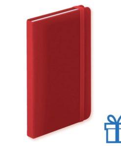 Notitieboek A6 PU leder 100 vel rood bedrukken