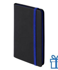 Notitieboek A6 PU leder cover blauw bedrukken