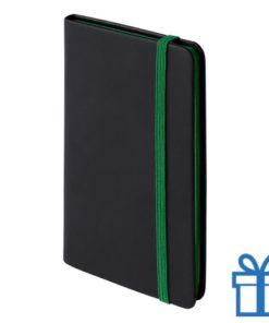 Notitieboek A6 PU leder cover groen bedrukken