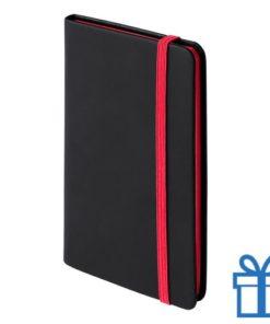 Notitieboek A6 PU leder cover rood bedrukken