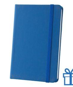 Notitieboek A6 PU leder touw blauw bedrukken