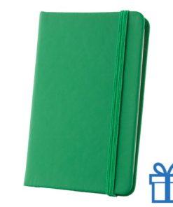 Notitieboek A6 PU leder touw groen bedrukken