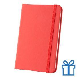 Notitieboek A6 PU leder touw rood bedrukken