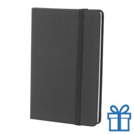 Notitieboek A6 PU leder touw zwart bedrukken