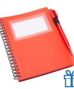 Notitieboek PP pen blauw bedrukken
