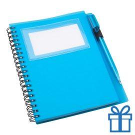 Notitieboek PP pen groen bedrukken