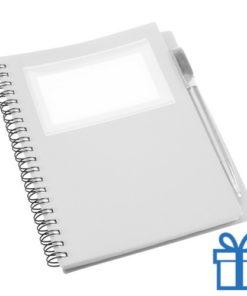 Notitieboek PP pen wit bedrukken