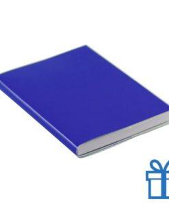Notitieboek gekleurd PCV cover blauw bedrukken
