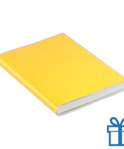 Notitieboek gekleurd PCV cover geel bedrukken