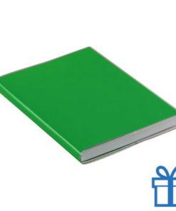 Notitieboek gekleurd PCV cover groen bedrukken