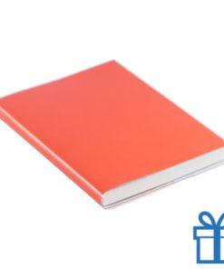 Notitieboek gekleurd PCV cover oranje bedrukken