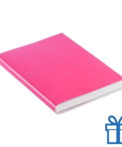 Notitieboek gekleurd PCV cover roze bedrukken
