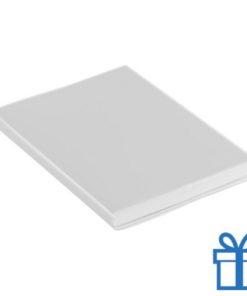 Notitieboek gekleurd PCV cover wit bedrukken