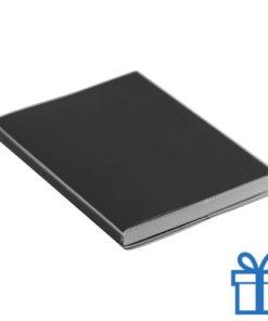 Notitieboek gekleurd PCV cover zwart bedrukken