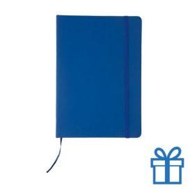 Notitieboek leer sluiting blauw bedrukken