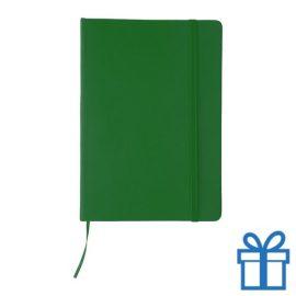 Notitieboek leer sluiting groen bedrukken