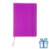 Notitieboek leer sluiting roze bedrukken