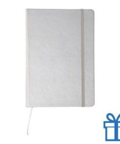 Notitieboek leer sluiting zilver bedrukken