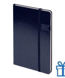Notitieboek met USB geheugen 8GB navy bedrukken