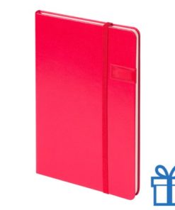 Notitieboek met USB geheugen 8GB rood bedrukken