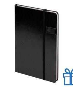 Notitieboek met USB geheugen 8GB zwart bedrukken