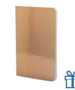 Notitieboek metallic gekleurd goud bedrukken