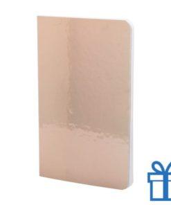 Notitieboek metallic gekleurd roze bedrukken