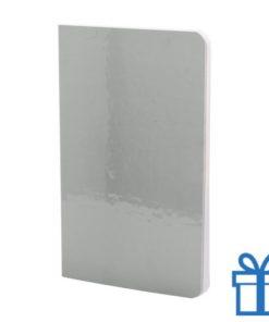Notitieboek metallic gekleurd zilver bedrukken