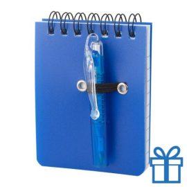 Notitieboek plastic cover blauw bedrukken