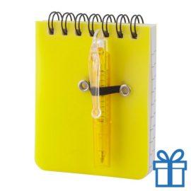 Notitieboek plastic cover geel bedrukken