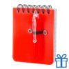 Notitieboek plastic cover rood bedrukken