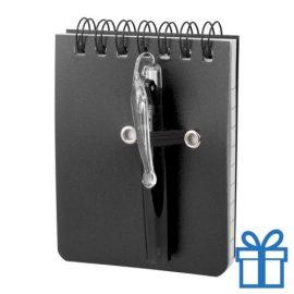 Notitieboek plastic cover zwart bedrukken