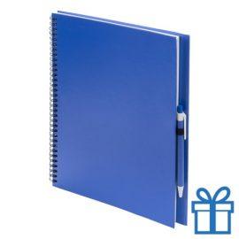 Notitieboek spiraal A4 blauw bedrukken