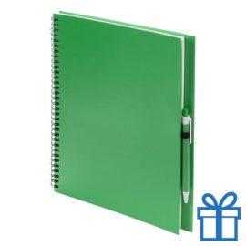 Notitieboek spiraal A4 groen bedrukken
