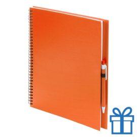 Notitieboek spiraal A4 oranje bedrukken