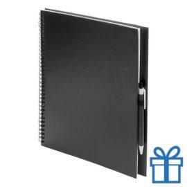 Notitieboek spiraal A4 zwart bedrukken