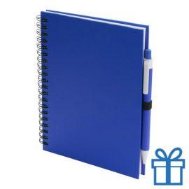 Notitieboek spiraal A5 blauw bedrukken
