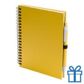 Notitieboek spiraal A5 geel bedrukken