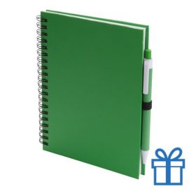 Notitieboek spiraal A5 groen bedrukken