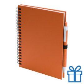 Notitieboek spiraal A5 oranje bedrukken