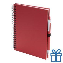 Notitieboek spiraal A5 rood bedrukken