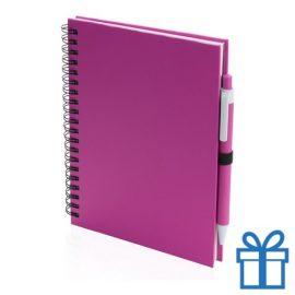Notitieboek spiraal A5 roze bedrukken