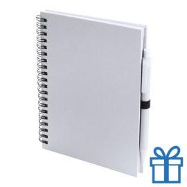 Notitieboek spiraal A5 wit bedrukken