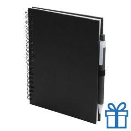 Notitieboek spiraal A5 zwart bedrukken