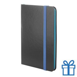 Notitieboekje papieren kaft blauw bedrukken