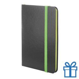 Notitieboekje papieren kaft groen bedrukken