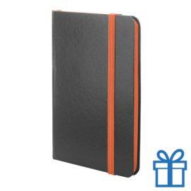 Notitieboekje papieren kaft oranje bedrukken