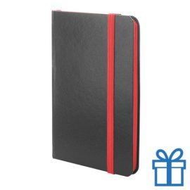 Notitieboekje papieren kaft rood bedrukken